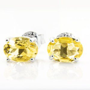 Natural Citrine Sterling Silver Earrings